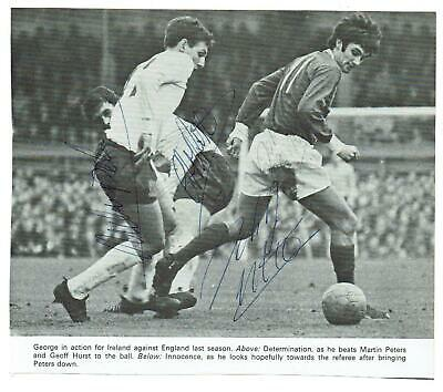 £9 • Buy George Best Martin Peters Geoff Hurst Signed Photo Picture 66 N. Ireland England