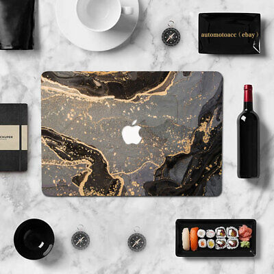 $21.99 • Buy Black Gold Natural Marble Case Cover For Macbook Pro 16 15  Air 11 12 13 Inch M1
