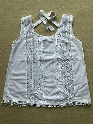 £8 • Buy Little Miss Captain Tortue White Top XS