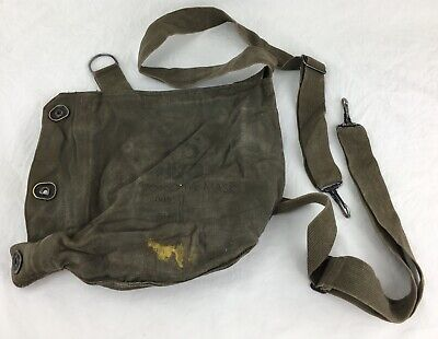 $6.99 • Buy WWll U.S. MILITARY FIELD PROTECTIVE Gas MASK BAG POUCH M9A1 (B-54)