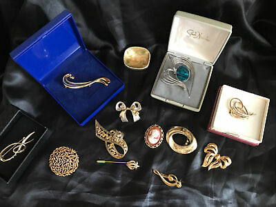 £5 • Buy House Clearance Jewellery Job Lot Brooches Mixed Age Some In Boxes