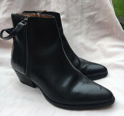 £24.99 • Buy Hudson London Leather Chelsea Ankle Boots With A 2  Cuban Heel Size 4