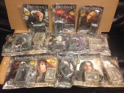 £48.80 • Buy Eaglemoss Lord Of The Rings Chess Set13 Magazines & Figs ALL NEW MINT BOXED Lot1