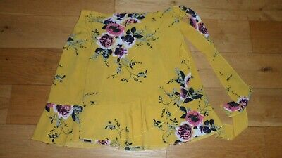 £0.99 • Buy Fab Ladies Yellow Mix Floral Wrap Style Skirt, Label Size M, Approx UK 10