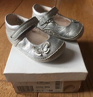 £1.99 • Buy Clarks ~~~~~~Baby Girls Silver Leather Cruiser Shoes~~~~~~ UK Infant Size 2.5 F