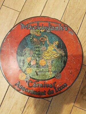£10 • Buy Vintage Mackintoshs Carnival Assortment De Luxe Toffee Tin