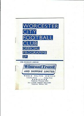 £1.99 • Buy Worcester City V Chelmsford City (Southern League) - 22/04/1972