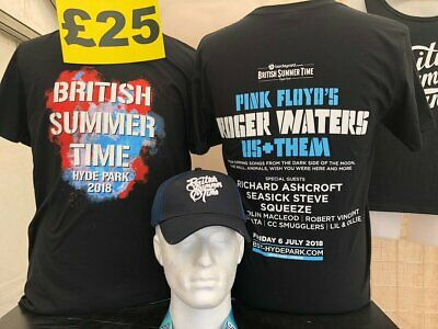 £20 • Buy Roger Waters Official ~ Us+Them Tour ~ 2018 T Shirt ~ Hyde Park ~ Size Large
