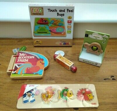 £30 • Buy Wooden Toy Bundle Age 0 - 12 Months Baby Puzzles, Teether Etc