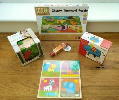 £35 • Buy Wooden Toy Bundle Age 1-2 + Shape Sorter, Puzzles Etc Toddler One/two Year Old