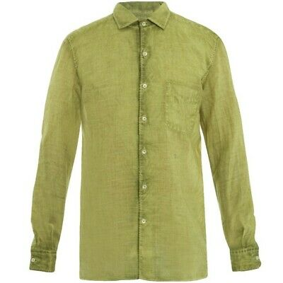 £97.96 • Buy Massimo Alba Relaxed Watercolor-Dyed Ramie Voile Shirt Mens S-M $350