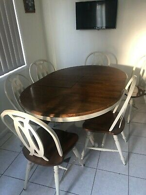 AU500 • Buy Dining Table And Chairs EXTENDABLE GOOD CONDITION