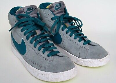 £25 • Buy NIKE Blazer Mid Trainers - Suede Grey/Blue/Green - UK 4 - Shoes