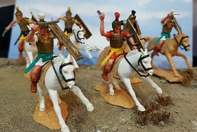 £35 • Buy Vintage Plastic Toy Soldiers - Six Timpo Mounted Romans Lot 2