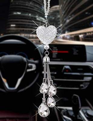 $16.08 • Buy Heart Car Accessories For Men And Women, Cute Bling Car Decoration Accessories,