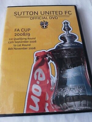 £3.40 • Buy Sutton United Official Dvd FA Cup 2008/09 New Unopened