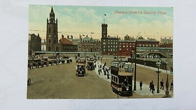 £5.99 • Buy Postcard Liverpool, Trams,  From Landing Stage, Hansom Cabs & Overhead Railway.