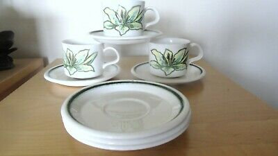 £2.99 • Buy Set 3 Royal Worcester  Palissy Orchid Cups & Saucers + 3 Saucers