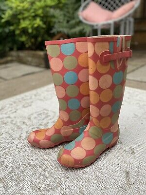 £5.75 • Buy Boden Ladies Spotty Pink Wellies / Welly Boots- Size 6 (eu 39)