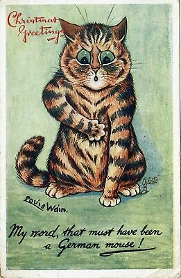 £39.99 • Buy Scarce Tuck Postcad Louis Wain Ser 8850 Some Cats - A German Mouse 1917 1/2