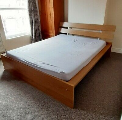 £50 • Buy VGC IKEA Hopen EU King Bed Frame Wood (mattress Available For Free)