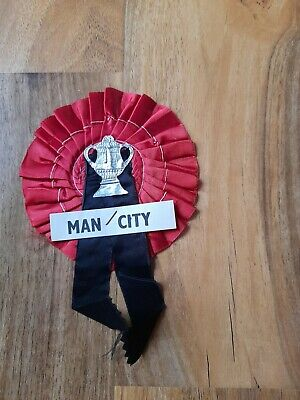 £3 • Buy Original Manchester City Rosette From The 1969 Fa Cup Final