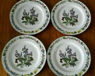 £0.99 • Buy Four Royal Worcester  Worcester Herbs  8.5  Plates With Sage Design