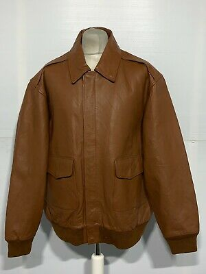 £79 • Buy VINTAGE 80's US AIR FORCE ISSUE LEATHER TYPE A-2 BOMBER JACKET SIZE 2XL