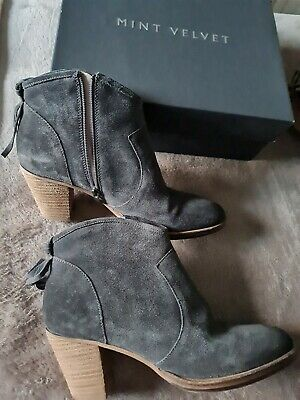 £65 • Buy Mint Velvet Grey Suede Ankle Boots Size 6 New With Box.