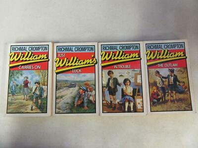 £14.45 • Buy LOT Of (4) RICHMAL CROMPTON Books WILLIAM Series OUTLAW, In Trouble, CARRIES ON