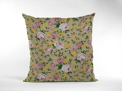 £6 • Buy 16  Gold & Blush Pink Vintage Floral Cushion Cover Shabby Chic, Country Cottage