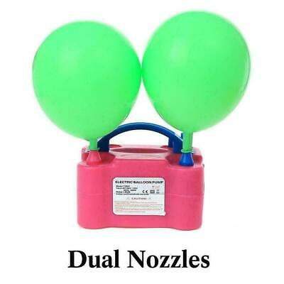 £18.69 • Buy Portable Dual Nozzle Electric Balloon Pump Inflator Blower Air BEST Party C N4W2