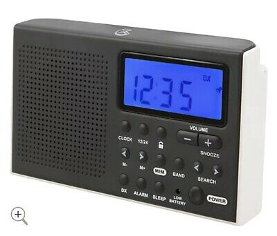 £6.37 • Buy GPX R616W Portable 6-Band Shortwave AM/FM Radio With Built-in Speaker And Clock