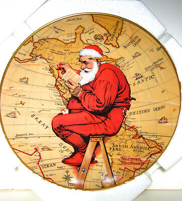 $ CDN18.26 • Buy Gorham Fine China Rockwell Collector Plate 1981 Santa Plans His Visit 68535