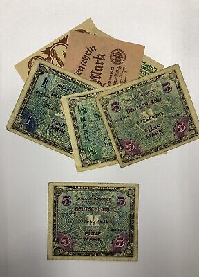 $ CDN0.01 • Buy 1944 5 Mark Allied Military Currency P-192 + 6 FREE Collection Germany Notes