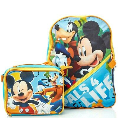 £7.09 • Buy Mickey Mouse Backpack With Lunch Box Standard Size Donald Goofy Slight Defect