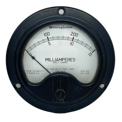 $31.40 • Buy 0-15mA 0-300 Panel Meter Ammeter Westinghouse NX-35 CG-18377-1 0.075Ohm