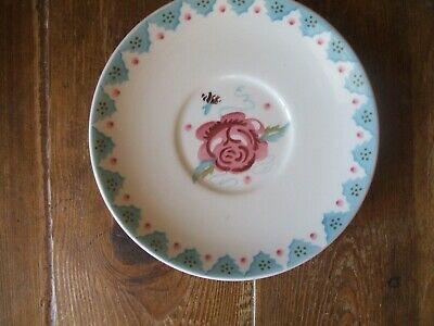 £15 • Buy Emma Bridgewater Hardly  Used First 7  Large Rose And Bee Saucer Sponge Ware