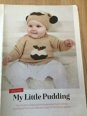 £2.25 • Buy Babies Christmas Jumper And Hat Little Pudding Knitting Pattern Only