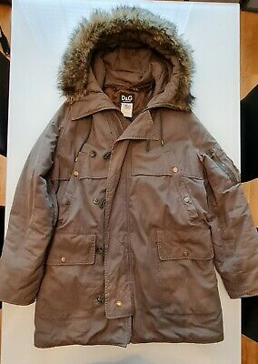 £49 • Buy Mens Padded Dolce And Gabbana Parka Coat (Green) - Size (L)