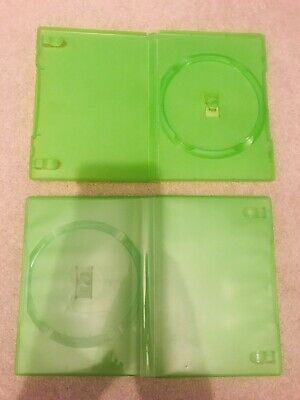 £3 • Buy Pair Of Empty Green DVD Boxes Cases - RARE?