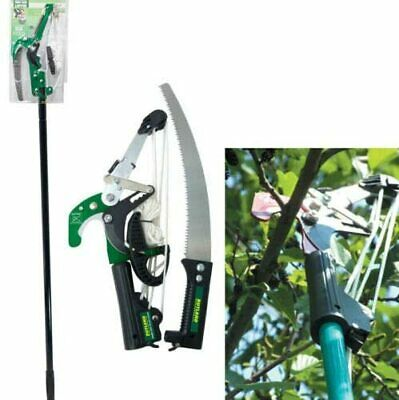 £19.95 • Buy New Ratchet Tree Lopper & Telescopic Pole Saw Pruning Cutting Branch Telescopic