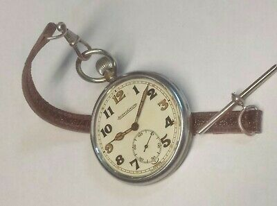 £305 • Buy Stunning WW2 BRITISH Jeager-LeCoultre 467/2 Pocket Watch & Fob FULLY ServicedVGC