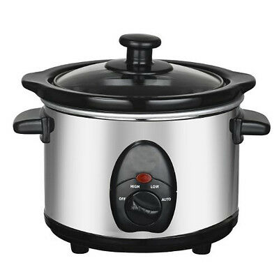 £21.95 • Buy 3.5l Slow Cooker Stainless Steel + Removable Inner Crock Pot Steam Grill 200w