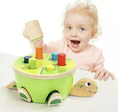 £19.99 • Buy Hammering Pounding Bench Wooden Toy With Mallet, Gifts For 2 Year Old Girl Boy