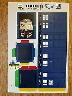 £4.99 • Buy LOOTCRATE Exclusive Qmx BBC Doctor Who  Paper Figs TARDIS Sheet