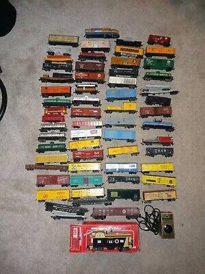 $ CDN28.62 • Buy Vintage Large Lot Of HO Scale Train Cars With Scale O Cars With Tracks