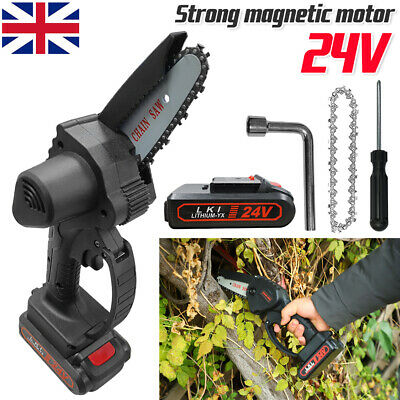 £35.99 • Buy Rechargeable Mini Handheld Cordless Electric Chainsaw Wood Cutter Cutting Tool~+
