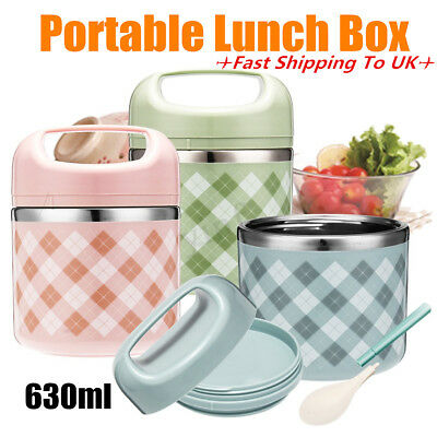 AU24.30 • Buy Vacuum Portable Stainless Steel Lunch Box Picnic Thermos Food Storage  UK AU
