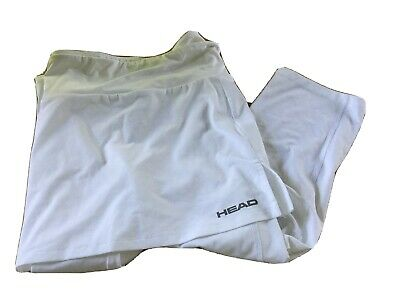 £0.99 • Buy Women's White Head Stability Skirt With Attached Leggings.Tennis Athletic SIZE L